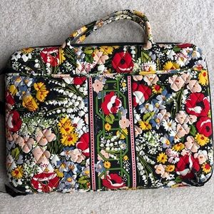 Vera Bradley Poppy Fields Laptop Travel Case